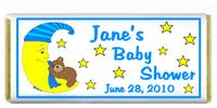 Baby Shower Moon Bear Blue Candy Bar