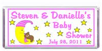 Baby Shower Moon Bear Pink Candy Bar