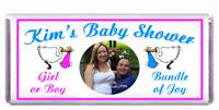 Baby Shower Photo Double Stork Candy Bar