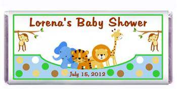 Baby Shower Zoo Aniamals Candy Bar