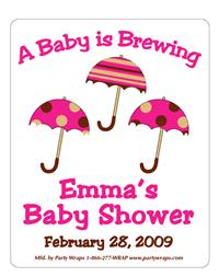 Baby Shower Triple Umbrella