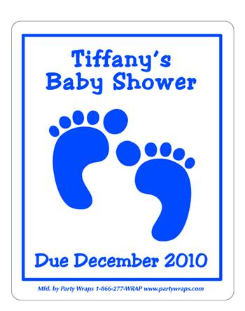 Baby Shower Footprint Label