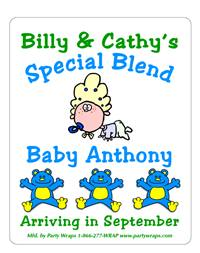 Baby Shower Cartoon Baby Label