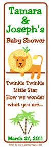 Baby Shower Lion Bookmarker