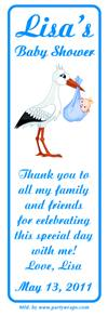 Baby Shower Stork Bookmarker