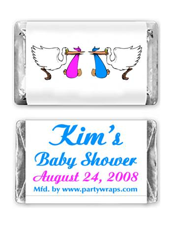 Baby Shower Miniature Candy Bars Graphic