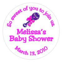 Baby Shower Rattle Label