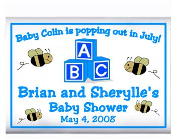 Baby Shower Blocks & Bees Popcorn