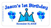 Childrens Birthday Prince Label