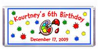 Childrens Birthday Paint Candy Bar