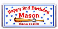 Childrens Birthday Baseball Candy Bar