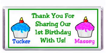 Childrens Birthday Double Cupcake Candy Bar