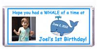 Childrens Birthday Whale Candy Bar