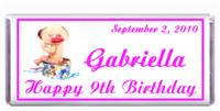 Childrens Birthday Baby Hat Box Candy Bar