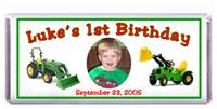 Childrens Birthday Tractor Trucks Candy Bar