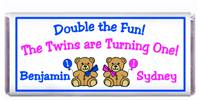 Childrens Birthday Double Teddy Candy Bar