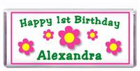Childrens Birthday Daisy Dots Candy Bar