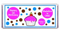 Childrens Birthday Cupcake Polka Dot Candy Bar