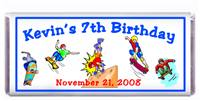 Childrens Birthday Skateboard Candy Bar