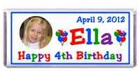 Childrens Birthday Photo Candy Bar