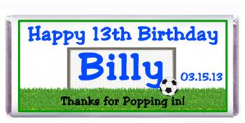 Childrens Birthday Soccer Theme Candy Bar