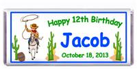Childrens Birthday Cowboy Theme Candy Bar