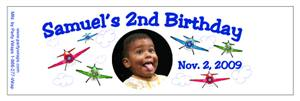 Childrens Birthday Airplane Water Bottle Labels