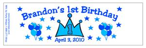 Childrens Birthday Prince Water Bottle Labels