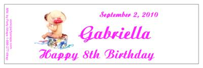 Childrens Birthday Baby Hat Box Water Bottle Labels