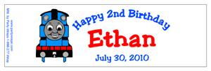 Childrens Birthday Thomas Water Bottle Labels