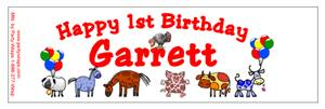 Childrens Birthday Farm Animals Water Bottle Labels