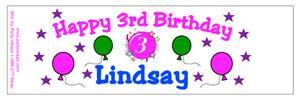 Childrens Birthday Balloon & Burst Water Bottle Labels