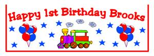 Childrens Birthday Train Goodie Bag Top