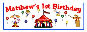 Childrens Birthday Circus Tent Goodie Bag Top