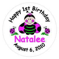Childrens Birthday Lady Bug Lollipop