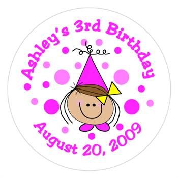 Childrens Birthday Girl Label