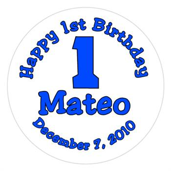Childrens Birthday 1st  Label