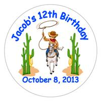 Childrens Birthday Cowboy Lollipop