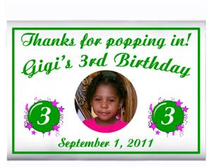 Childrens Birthday Photo Burst Popcorn