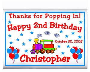 Childrens Birthday Train Popcorn