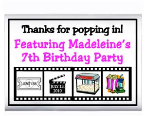 Childrens Birthday Movie Film Popcorn