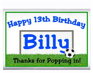 Childrens Birthday Soccer Theme Popcorn