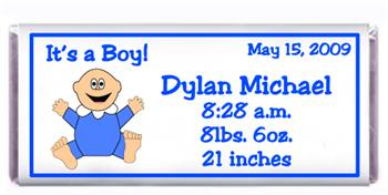 Birth Announcement Baby Candy Bar