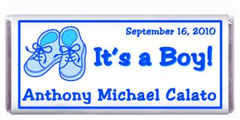 Birth Announcement Booties Candy Bar