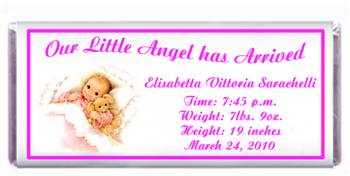 Birth Announcement Sleeping Baby Candy Bar
