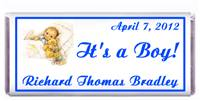 Birth Announcement Boy Sleeping Candy Bar