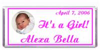 Birth Announcement Photo Candy Bar