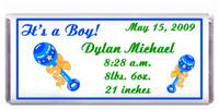 Birth Announcement Baby Rattles Candy Bar