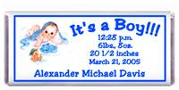 Birth Announcement Blanket Baby Candy Bar