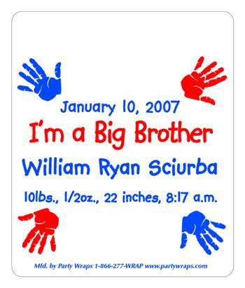 Birth Announcement Handprints M&M Tube